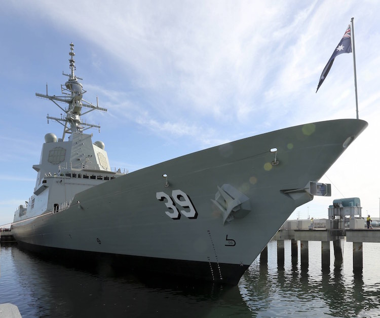 AIR WARFARE DESTROYER - OFFICIAL HOBART LAUNCH