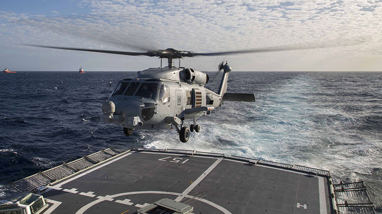 An Australian Navy MH-60R Romeo.