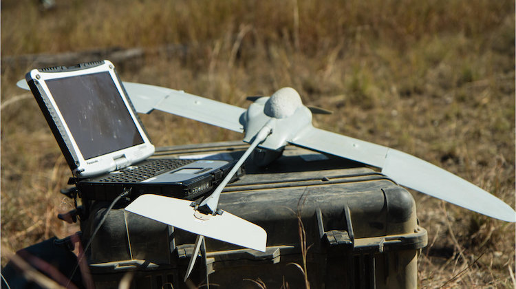 Australian Army soldiers 6th Battalion, Royal Australian Regiment, demonstrated the Wasp micro unmanned aerial system at Camp Growl, Shoalwater Bay training area, during Exercise Talisman Sabre 2015.