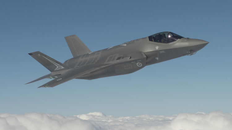 AU-1 First Flight at Fort Worth, Texas. Pilot Al Norman, the F-35 Chief Test Pilot, flying Australia's first F-35.
