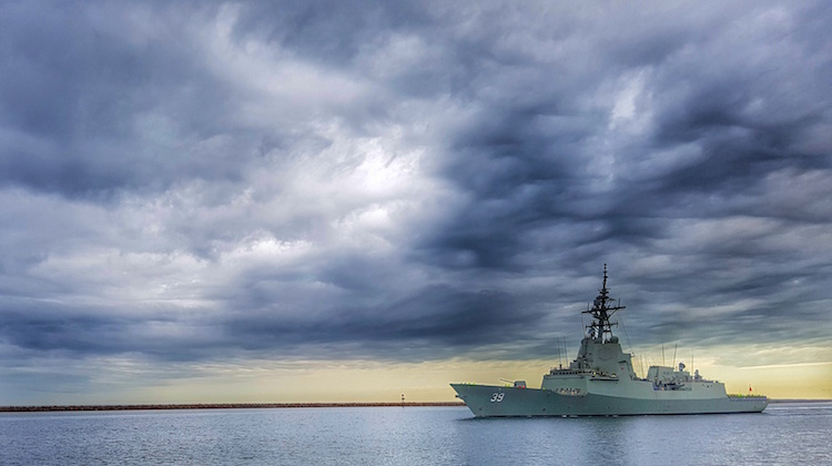 The Air Warfare Destroyer, NUSHIP Hobart, commences its first series of sea trails, Builder's Sea Trials, which demonstrates the functionality of the ship's propulsion, manoeuvring, auxiliary, control and navigation systems.