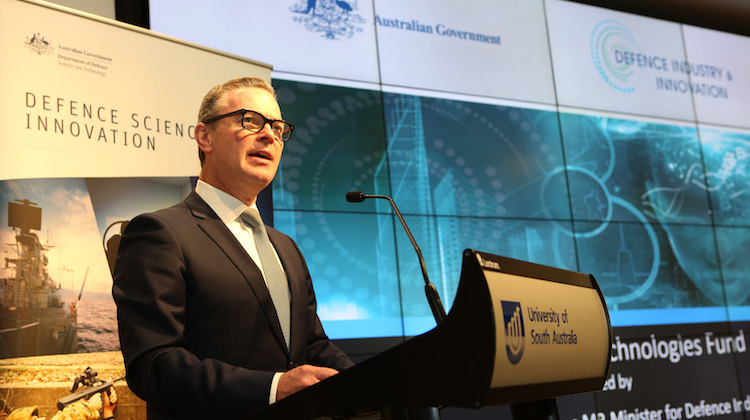 The Hon Christopher Pyne MP, Minister for Defence Industry announces the launch of The Next Generation Technologies Fund at the Jeffrey Smart Building of the University of South Australia.