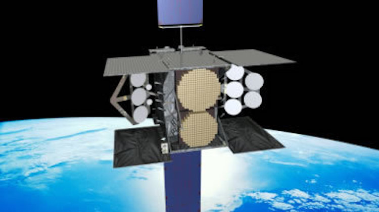 An artist's rendering of Wideband Global Satellite (WGS) in orbit. WGS provides flexible, high-capacity communications for the Nation's warfighters through procurement and operation of the satellite constellation and the associated control systems. WGS provides worldwide flexible, high data rate and long haul communications for marines, soldiers, sailors, airmen, the White House Communication Agency, the US State Department, international partners, and other special users. More information at http://www.afspc.af.mil/About-Us/Fact-Sheets/Display/Article/249020/wideband-global-satcom-satellite