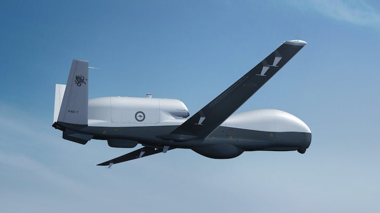 File photos of MQ-4C Triton. Courtesy of Northrop Grumman. Image has been manipulated.