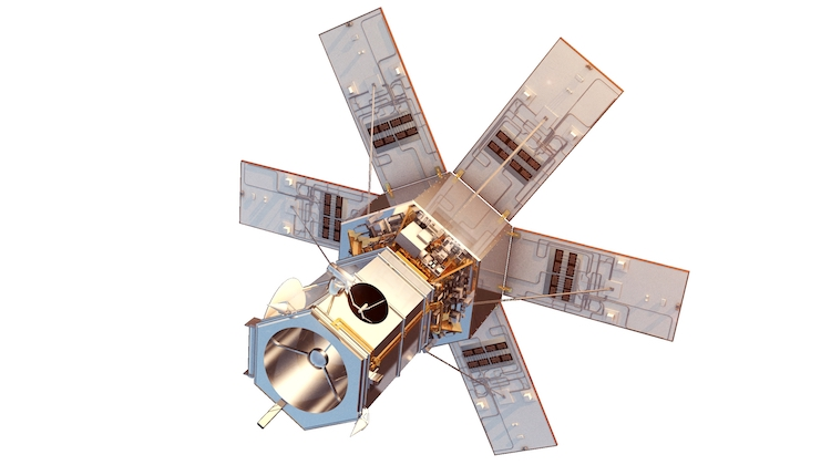 Artist's impression of WorldView-4 satellite.