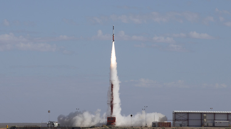 HIFiRE 5b rocket launches successfully at the Woomera Test Range in South Australia on May 18, 2016.