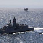 HMAS Ballarat patrolling the North West Shelf of Australia.