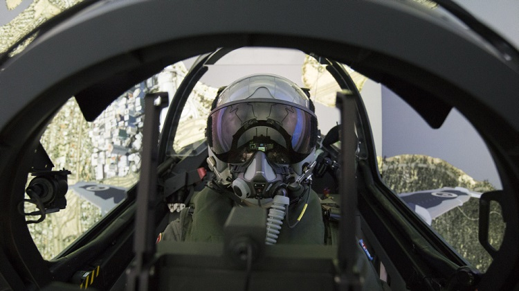 79 Squadron Trainee, Flying Officer Iain Roberts-Thomson, operates the Hawk Simulator on a training evolution over a simulated Perth, Western Australia, at RAAF Base Pearce. *** Local Caption *** Fast-jet pilots on 79 Squadron's Introductory Fighter Course are now training on a new, state-of-the-art HAWK Full Mission Simulator (FMS). The Hawk FMS gives students a realistic simulation of the Hawk aircraft, better preparing them for flight. The Hawk FMS has set a new benchmark for fighter-trainer simulation, giving trainee pilots better training through a more accurate experience.
