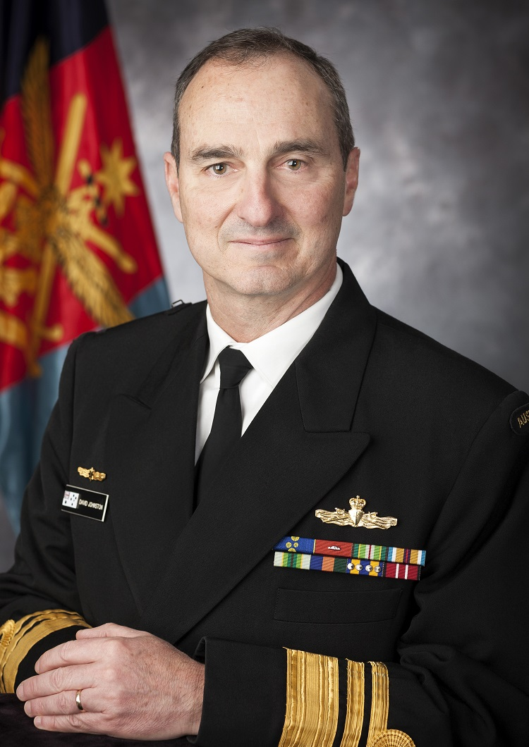 Official portrait of Chief of Joint Operations(CJOPS) Vice Admiral David Johnston