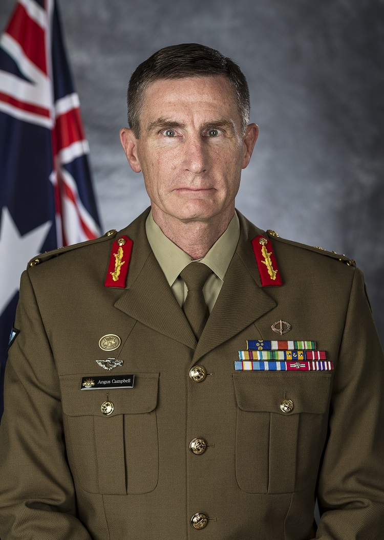 Official Portrait of Chief of Army, Lieutenant General Angus Campbell, AO, DSC.