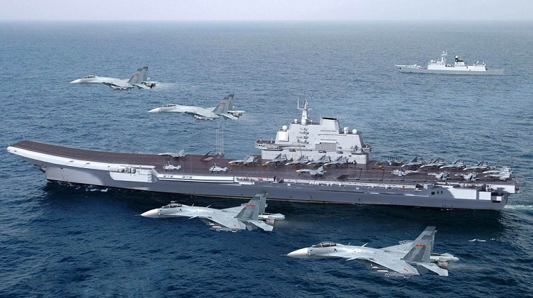 Chinese-aircraft-carrier-ex-Varyag-Chinese-Peoples-Liberation-Army-Navy-PLAN-j-15-aesa-J-15-Flying-Shark-Shi-Lang-OPERATIONAL